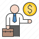 bank, banking, business, cash, currency, finance, loan, money icon