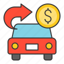 bank, banking, car loan, cash, currency, finance, money icon