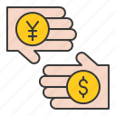 bank, business, cash, currency, currency exchange, finance, money exchange icon