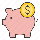 banking, cash, currency, finance, money, piggy, piggy bank, save icon