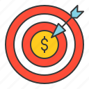 bank, business, finance, money, money goal, strategy icon