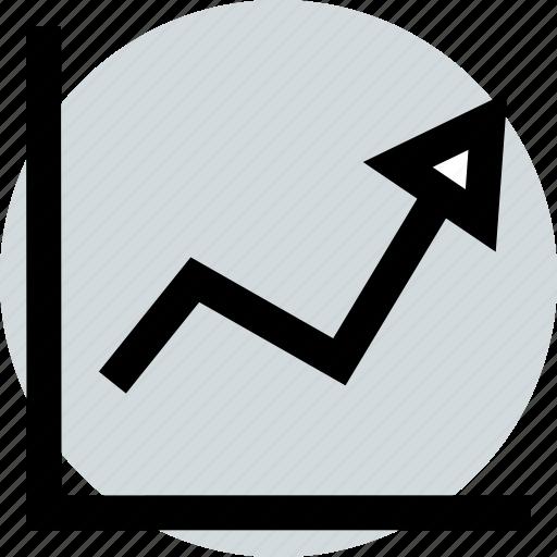 arrow, bar, graphic icon
