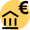 bank, euro, money icon