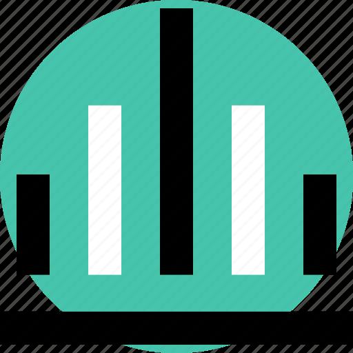 bars, data, graphic icon