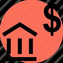 babk, banking, dollar icon