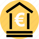 euro, finance, money icon