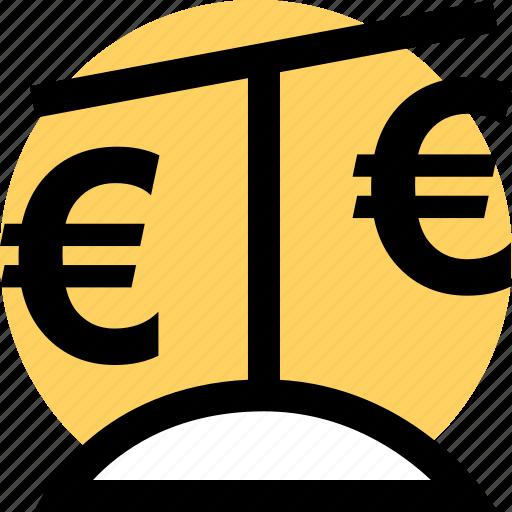 euro, scale, uk icon