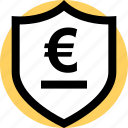security, shield, euro