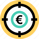euro, goal, money icon