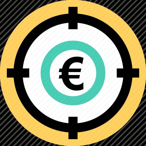 euro, goal, money icon