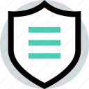 secured, security, shield icon