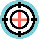 business, money, target icon