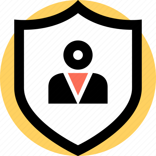 boss, shield, user icon