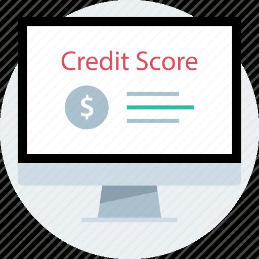 credit, online, score, web icon