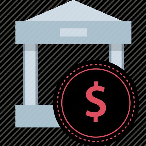 bank, banking, dollar, sign icon