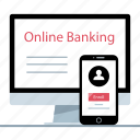 banking, mobile, online icon