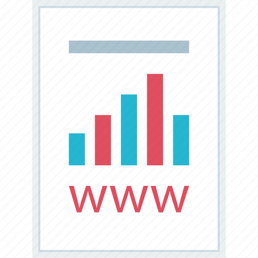 data, page, report, www icon