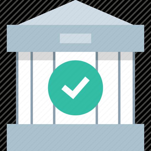 banking, checkmark, ok, safe icon
