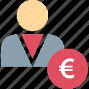 bank, banker, banking, euro icon