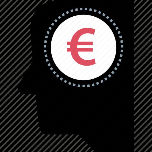 euro, finance, money, sign icon