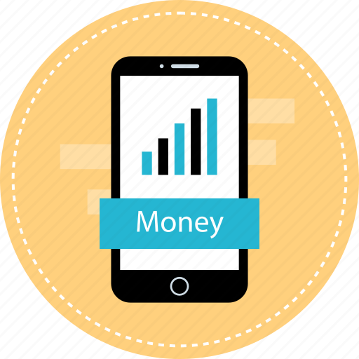 mobile, money, online, web icon