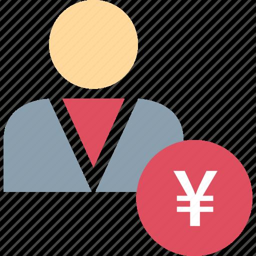 data, person, user, yen icon