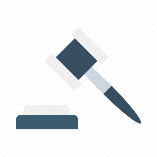 auction, gavel, hammer, justice, law, scale icon