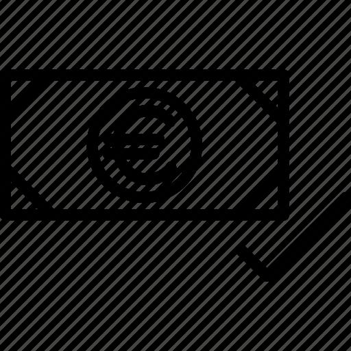 approve, cash, money, payment, success, valid, verify icon