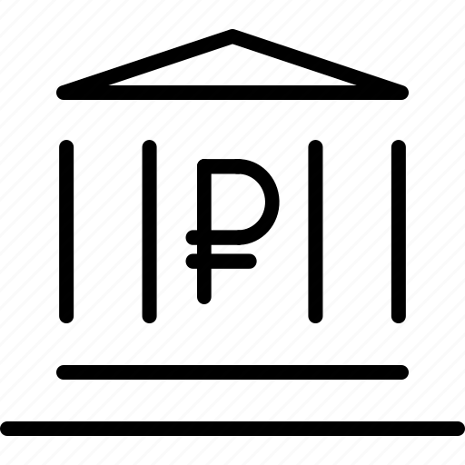 bank, banking, financial, instituition, institute, ruble icon