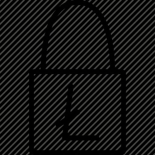 account, disable, litecoin, lock, online shopping, transaction, usage icon