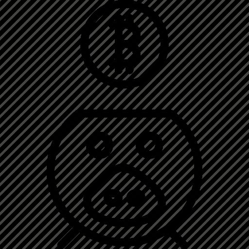 bank, banking, bitcoin, pig, piggy, savings, virtual icon