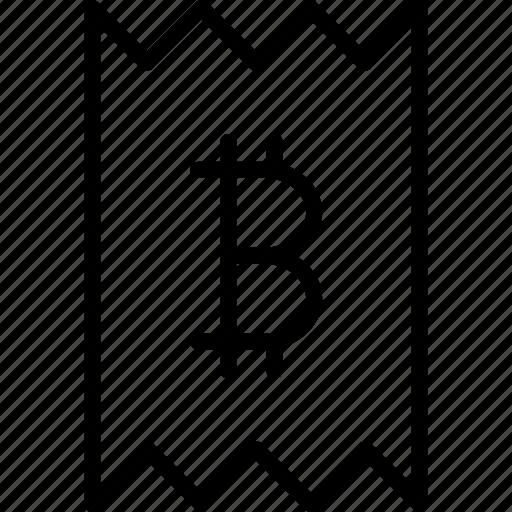 bill, bitcoin, invoice, online, receipt, statement, trade icon