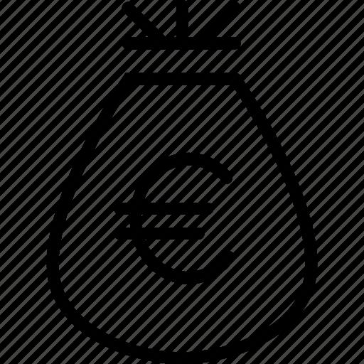 bag, business, cash, euro, money, prize, reward icon
