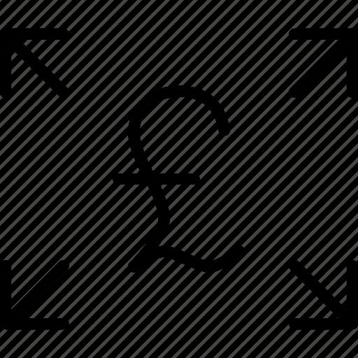 arrow, funds, pound, send, share, transaction, transfer icon