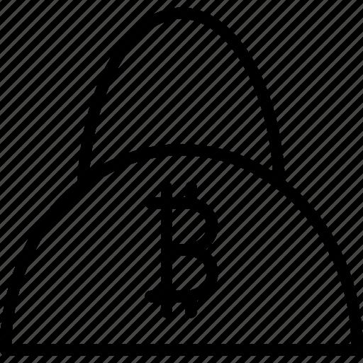 bag, balance, bitcoin, digital, finance, online, shopping icon