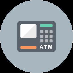 atm, bank, cash, finance, finantix, machine, money icon