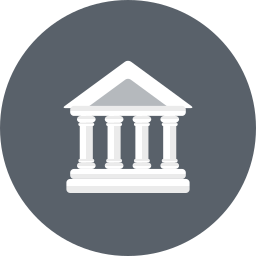 bank, banking, building, business, courthouse, finance icon