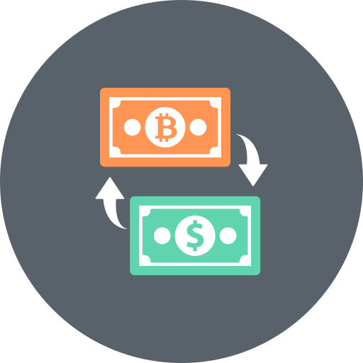 banking, bitcoin, currency, dollar, exchange, finance, money icon