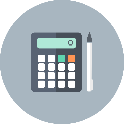 accountant, accounting, calculate, calculation, calculator, math, pencil icon