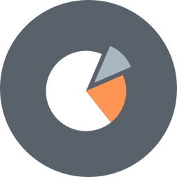 analytics, chart, finance, graph, marketing pie, pie, statistics icon