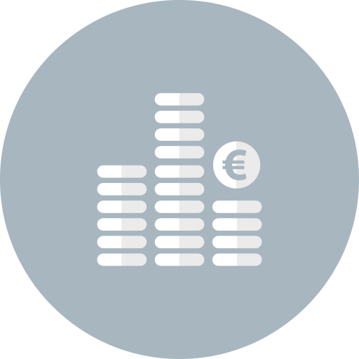 bank, business, cash, coins, euro, finance, money icon