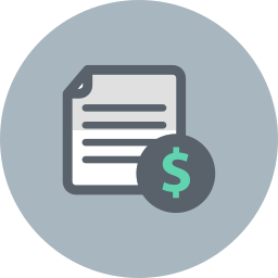 business, document, dollar, file, finance icon