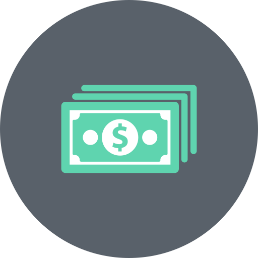 bills, cash, dollar, exchange, money, payment, price icon