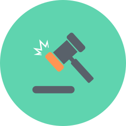 acquisitions, auction, finance, gavel, hammer, justice, law icon