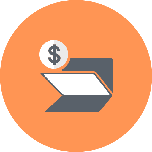 banking, coin, dollar, folder icon