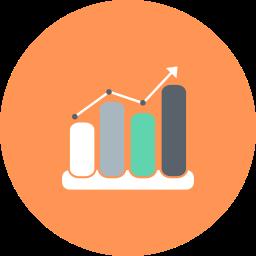 business, chart, diagram, graph, graph line, graphs, statistics icon