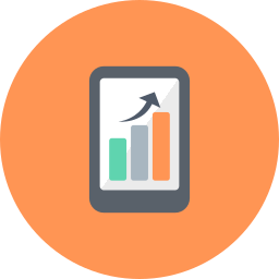 analysis, chart, diagram, graph, graphs, mobile, smartphone icon