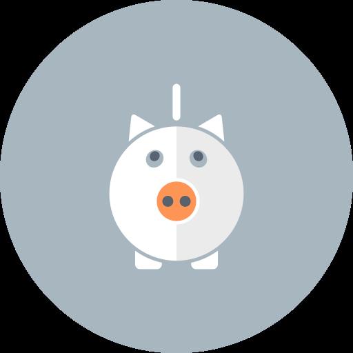 cash, money, pig, piggy bank, savings icon
