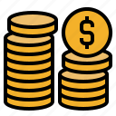 cash, coins, dollar, finance, financial, money, payment icon