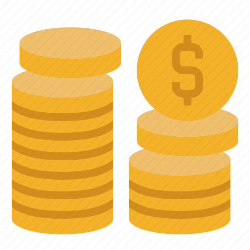 banking, business, coins, currency, finance, money, pay icon